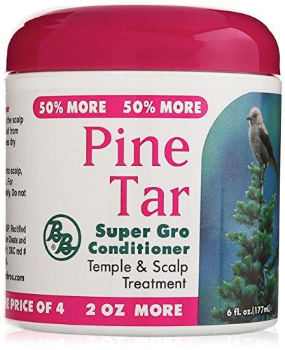Bronner Brothers Pine Tar Super Gro Hair and Scalp Bonus, 6 Ounce