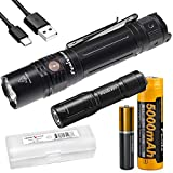 Gift Bundle: Fenix PD36R 1600 Lumen Rechargeable Flashlight with E01 V2 Pocket Flashlight and Lumentac Battery Case