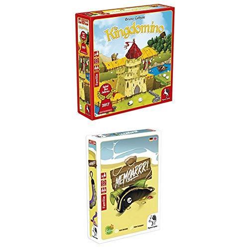 Pegasus Spiele 57104G Kingdomino Brettspiele, bunt + Memoarrr Kartenspiel