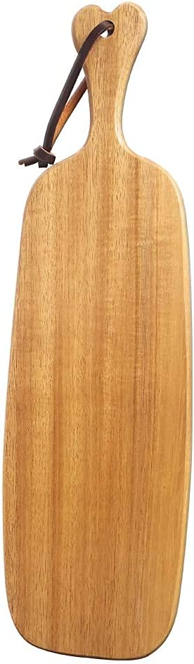 FIVE ELEPHANT Acacia Wood with Handle Kitchen Cutting and Serving Board Long Charcuterie Platter, Cheese Board, Vegetables &Fruits