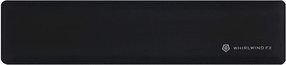WhirlwindFX Wrist Pad/Rest - Full Standard Black - Mechanical Keyboards, Stitched Edges, Ergonomic - 17.5 x 4.0 x 0.8 in (...