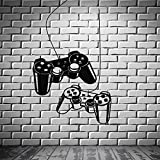 Joystick Abnehmbare Wandtattoo Gamer Videospiel Spielen Kinderzimmer Vinyl Aufkleber Kunst Wand Tattoo Für Jugendliche Schlafzimmer Wandbild 56X98cm