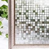 Pegatina de Vidrio con patrón de Mosaico, película para Ventanas de protección de la privacidad, Adecuada para baño Familiar, Sala de Estar, balcón A 30x100cm