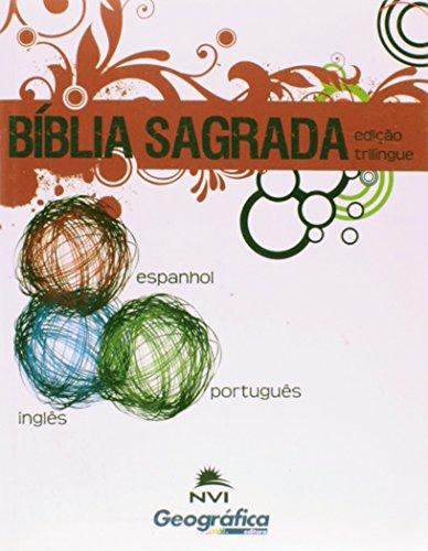 Bíblia Nvi Trilíngue Pequena Brochura Verde