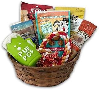 Dog Gift Basket set Puppy Pets Treats Crew Toys