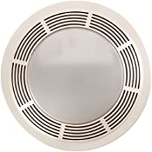 Broan 751 Round Fan and Light Combo for Bathroom and Home, White Grille with Glass Lens, 100-Watts, 3.5 Sones, 100 CFM