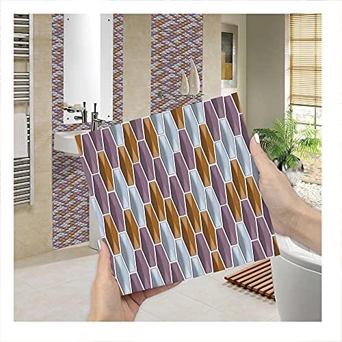 JAXU CWN 'ART Tipo B 3D Pegatinas para Azulejos de Bricolaje, Pegatinas de Pared de PVC a Prueba de Agua Decoración para la decoración del Dormitorio de la Cocina Cada Paquete de 10 Piezas