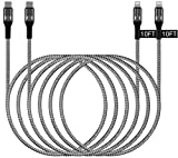 USB C to Lightning Cable 10FT iPhone Charger, WHIRELEAST 2-Pack Braided Long 10 Foot MFi Certified iPhone Fast Charger Cord for iPhone 12/12 Pro Max/Mini, 11 XR XS X 8 Plus, iPad Air Mini