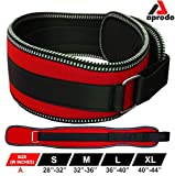 APRODO Unisex 6'' inch Wide Nylon Eva Waist Support Belt Sport Pressurized Weightlifting