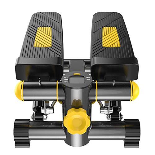 GAXQFEI Mini Máquina Multifuncional de Pedal Magnético Máquinas de Entrenamiento Elípticas, Gimnasio Y Forma de la Máquina Paso a Paso con Entrenamiento de Entrenamiento de Cuerda de Pull
