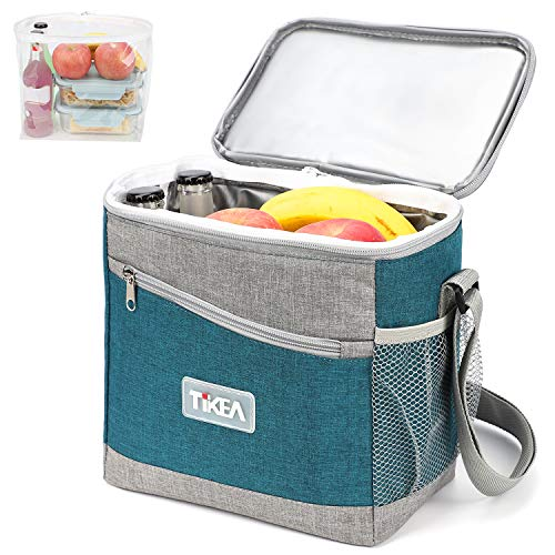 Tikea Isoliertasche - Lunchtasche Isolierte Thermo Tasche Kühltasche Klein Thermischer Tote Wiederverwendbarer Bento-Sack für zur Arbeit Schule, 7.8 L, 23 * 14.5 * 23.5 cm