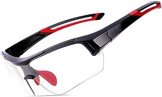 ffa413d10a ZEGEGE Bicicleta de montaña Que Cambia de Color Gafas de Ciclismo para  Hombres y Mujeres.
