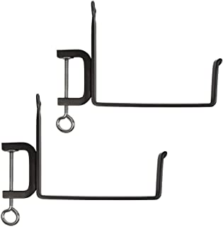 Achla Designs SFB-02C, 8 inch Railing clamp Window Flower Box Brackets, Black