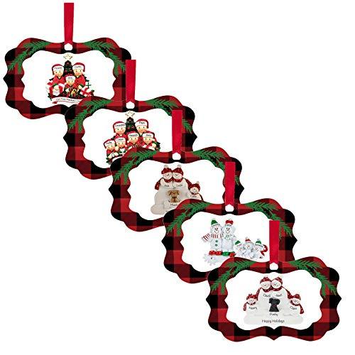 Wenese 2020 Weihnachten Miniatur Figuren Weihnachtsbaum Deko Mini Ornamente Set für Fee Deko Bonsai Puppenhaus Zuhause Tisch Dekoration Landschaft DIY Zubehör Schneemann Weihnachtsmann Baum