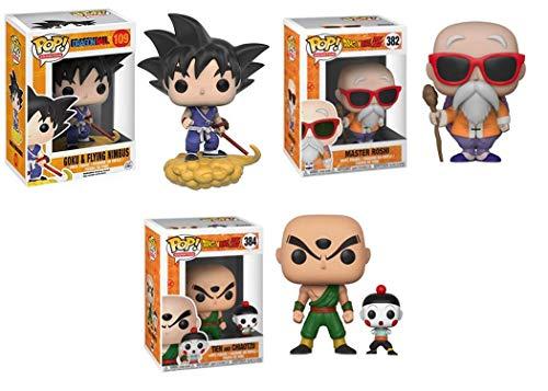 FunkoPOP!Dragon Ball: Goku y Flying Nimbus + Master Roshi + Tien y Chiaotzu