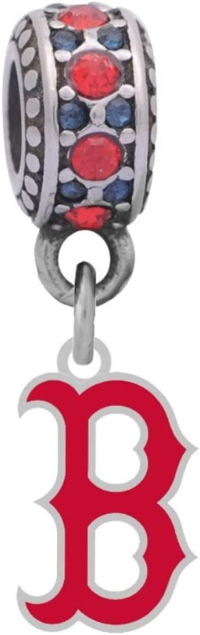 Limited time cheap sale Boston Red Sox Logo Charm B Special sale item Pandora With Compatible Brac Style