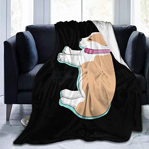 XCNGG Manta de Lana de Franela para Perro Corgi, Manta de Micro Terciopelo súper Suave, sofá Cama de Felpa hipoalergénica súper Suave para Sala de Estar 80 X 60