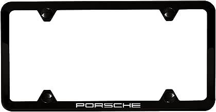 Porsche Genuine Slimline License Plate Holder in Black