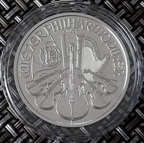 1 Unze oz Silber Wiener Philharmoniker 2020 einzeln in Münzkapseln verpackt