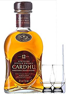 Cardhu 12 Jahre Single Malt Whisky 0,7 Liter  2 Glencairn Gläser  Einwegpipette 1 Stück