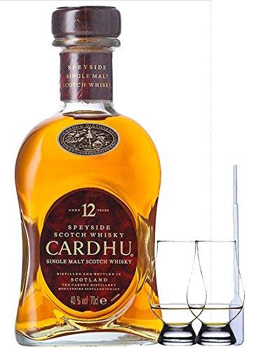 Cardhu 12 Jahre Single Malt Whisky 0,7 Liter + 2 Glencairn Gläser + Einwegpipette 1 Stück