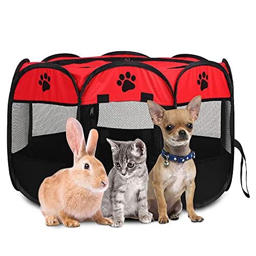NXL Parque para Perros Parque Mascotas Bolígrafos De Cachorro para Interiores Grandes Gato Corralito Parque Impermeable, Resistente A Los Arañazos para Perros Interior De Conejo