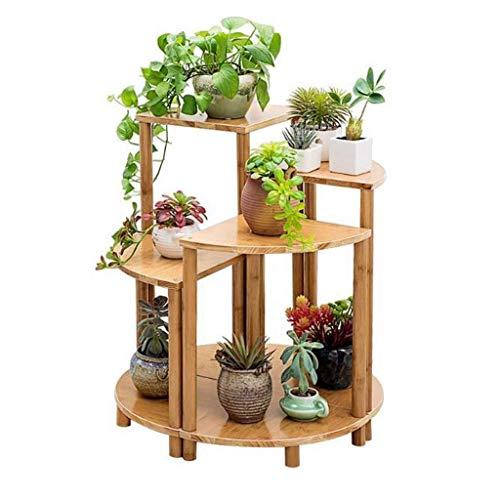 NBVCX Decoración de Muebles LYN Memory Juego de Escalera para Plantas de 4 sofás, Mesa Auxiliar, Esquina, bambú, Flor, Planta, Estante de exhibición para Dormitorio, Sala de Estar OOM