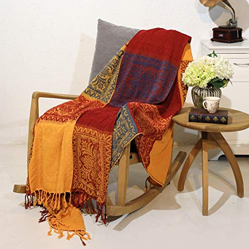 Prorector Reversible Cotton Boho Throw Blanket for Bed Couch Cover 59' x 75' (150 x 190 cm)