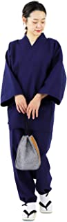 作務衣 レディース 綿100 女性 久留米織 女性用 綿 通年 女性用 パジャマ 日本製生地
