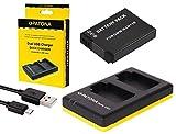 2in1-SET für die Panasonic Lumix TZ71 / DMC-TZ71EG - PREMIUM Akku kompatibel mit Panasonic BCM13 (1100mAh) + Dual Ladegerät (lädt 2 Akkus gleichzeitig)