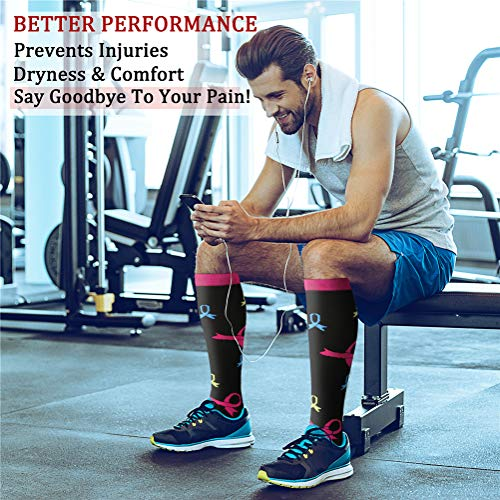 CHARMKING Compression Socks 15-20 mmHg is BEST Graduated Athletic & Medical for Men & Women Running, Travel, Nurses, Pregnant - Boost Performance, Blood Circulation & Recovery(Small/Medium,Assorted 1)
