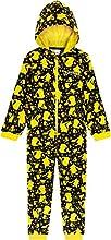 Pokemon Pijama Niño de Una Pieza, Pijama Pikachu para Niños, Pijamas Enteros de Forro Polar con Capucha, Regalos Originales para Niños Niñas 4-14 Años (11-12 años)