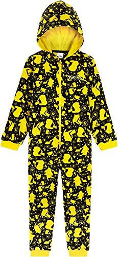 Pyjama Pokémon en polaire pour enfant tout en un, super doux à capuche, cadeau pour enfants et adolescents de 4-14 ans - Multicolore - 7 ans