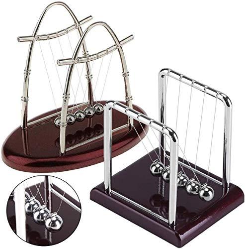 Fiyuer Pendel klein 2Pcs kugelstoßpendel kugelpendel Edelstahl für Schreibtisch Physik Wissenschaft Stahl Arch Pendel Ornaments Educational Spielzeug für Home Office Schreibtisch