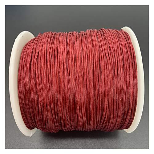 LCHB - Cuerda de hilo de encaje con nudo de nailon de 0,8 mm, se utiliza para hacer joyas de pulsera (color: 28)