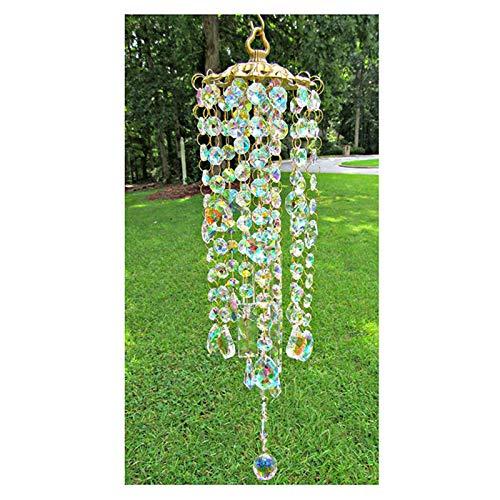 Speaklaus Coloridos carillones de viento de cristal, el complemento perfecto para tu jardín, patio, césped, regalo para familia y amigos.