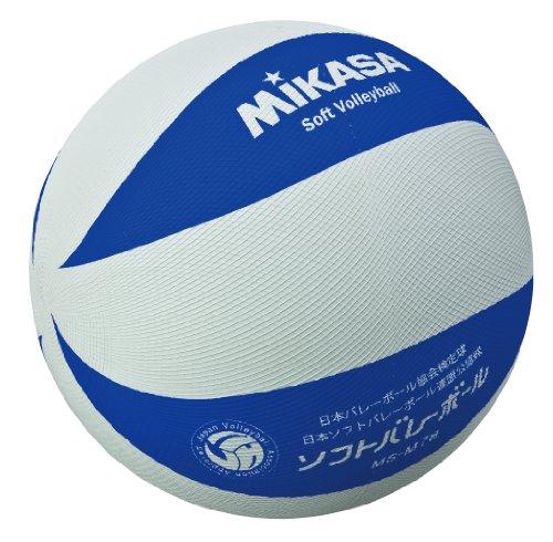 ミカサ ソフトバレー 白 青 白 青 1球 [5246]