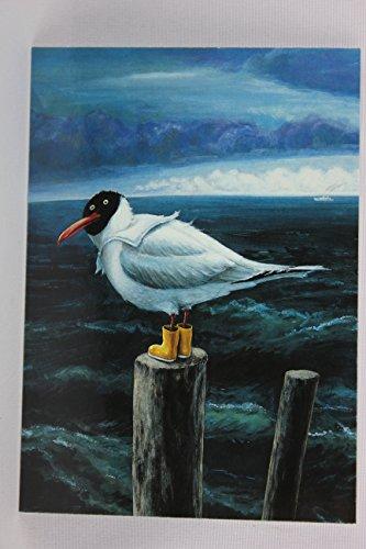 Postkarte A6 • 4721 ''Lachmöwe'' von Inkognito • Künstler: Rudi Hurzlmeier • Satire • Fantastik • Urlaub