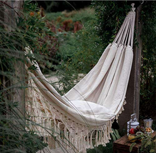 Tytuoling Hamac balancelle double bohème, fraîche et élégante, pour extérieur, pique-nique, jardin, macramé, brésilien