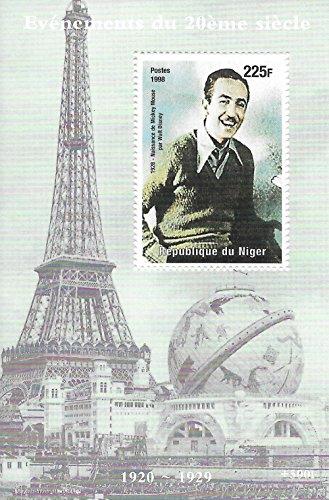 Francobolli da collezione - Walt Disney 1928 Ritratto MNH Stamp singola fogli / Niger / 1998