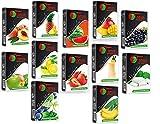 Tanya Hookah Shisha Flavors, Tobacco & Nicotine Free, Fruit Variety Pack, 50-Gram (Pack of 12)