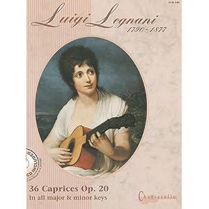 36 Caprices: In all major & minor keys. op. 20. Gitarre.