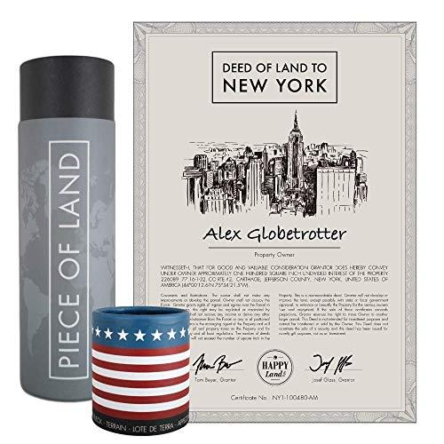 happylandgifts® Echtes New York Grundstück als einzigartiges Geschenk für New York und USA Fans | Personalisierte Besitzurkunde | New York Geschenke | Geburtstagsgeschenke