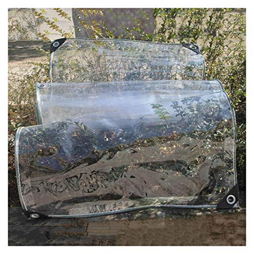 pujindu Wasserdicht Abdeckplane Plane mit Ösen, Sanft PVC Transparent Schutzplane Abdeckung zum Gartenmöbel Pool Überdachung, Wasserfeste Reißfest, 0,35mm Dick (Color :...