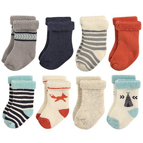Hudson Baby Basic Socks, 8 Pack, Fox, 12-24 Months