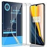 LK 3 Stück Schutzfolie für OnePlus 7, [Fingerabdruck-ID unterstützen] [Kompatibel mit Hülle] [Blasenfreie] Klar HD Weich TPU Folie
