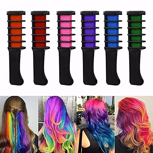 11 Color Disposable Hair Chalk Comb,professional Temporary Instant Hair Color Highlights Streaks...