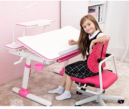 Study Right 1 Meter Kinder Arbeitstisch, Ergonomischer Kinder Arbeitstisch, Ausziehbare Schublade, E501 Anzug ab 6 Jahren (Bücherregal+Buchhalter sind Enthalten).