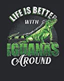 Life Is Better With Iguanas Around: Animal Lover Gift Idea for Women And Men - Monthly Weekly Planner / Journal (8' X 10' - January 2021 - December 2021 - 122 Pages)