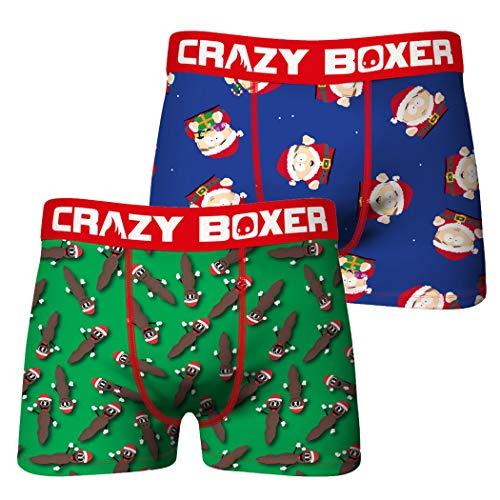 Crazy Boxers South Park Cartman Santa & Mr. Hankey Boxershorts, 2er-Pack Gr. 4/5 DE, merhfarbig